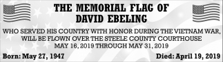 Memorial Flag of David Ebeling