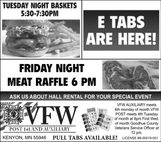 Tuesday Night Baskets / Friday Night Meat Raffle