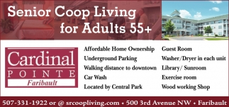 Senior Coop Living for Adults 55+, Cardinal Pointe Of Faribault, Faribault, MN