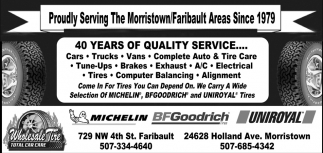 40 years of quality service...