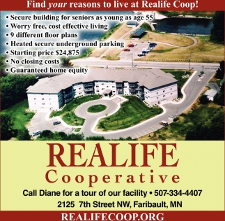 Find your reasons to live at Realife Coop!, Realife Cooperative - Faribault, Faribault, MN