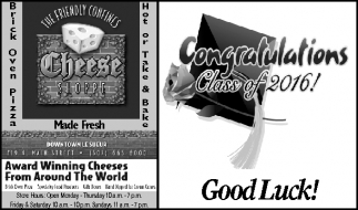 Ads For The Friendly Confines Cheese Shoppe in Southern Minn