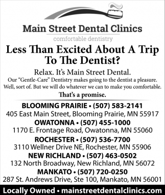 Relax. It's Main Street Dental
