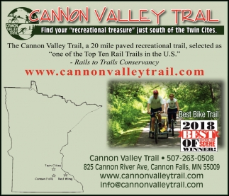 Rails to Trails Conservancy, Cannon Valley Trail, Cannon Falls, MN