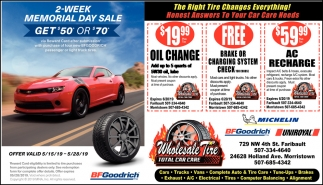 The Right Tire Changes Everything!, Wholesale Tire, Morristown, MN