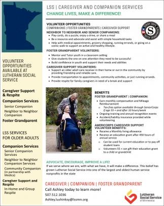 Volunteer Oportunities