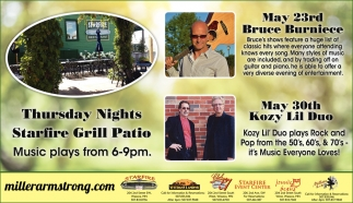 Thursday Nights | Starfire Grill Patio