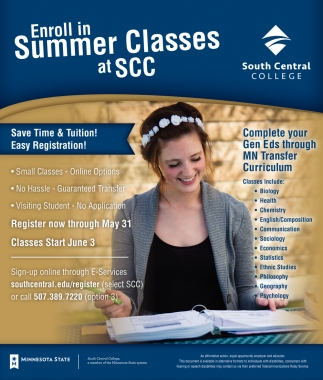 Enroll in Summer Classes