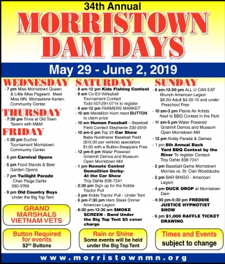34th Annual Morristown Dam Days