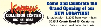 Come and Celebrate the Grand Opening of our New Location!
