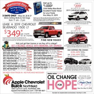 Savings Event, Apple Chevrolet Buick