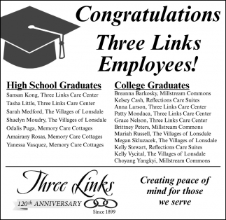 Congratulations Three Links Employees!
