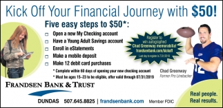 Kick Off Your Financial Journey with $50