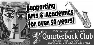 Supporting Arts & Academics for Over 50 Years!