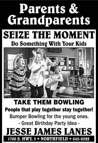 Take Them Bowling - People that play together stay together!