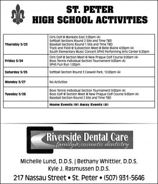 St. Peter High School Activities
