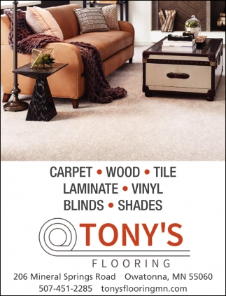 We've been installing quality flooring at an affordable rate for over 25 years, Tony's Flooring, Owatonna, MN
