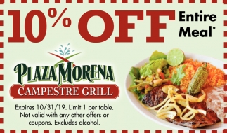 10% Off Entire Meal