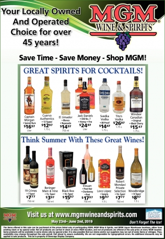 Save Time - Save Money - Shop MGM!
