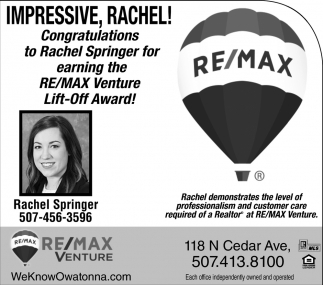 Impressive, Rachel! - Lift-Off Award