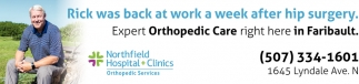 Expert Orthopedic Care right here in Faribault