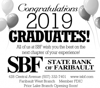 Congratulations 2019 Graduates!