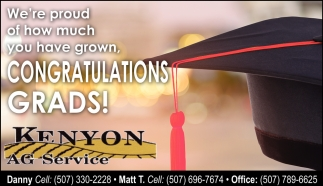 We're proud of how much you have grown / Congratulations Grads!