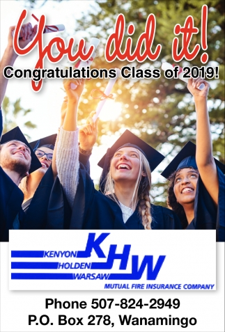 You did it! - Congratulations Class of 2019!
