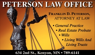 Franklin D. Peterson, Attorney At Law