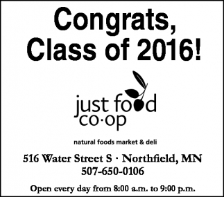 Congrats, Class of 2016!