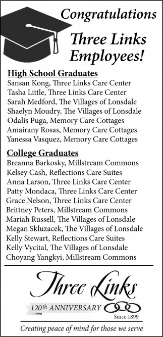 Congratulations High School Graduates - College Graduates