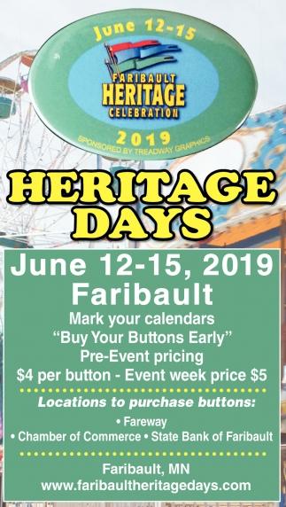 2019 Heritage Days June 12 - 15