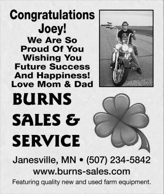 Congratulations Joey!