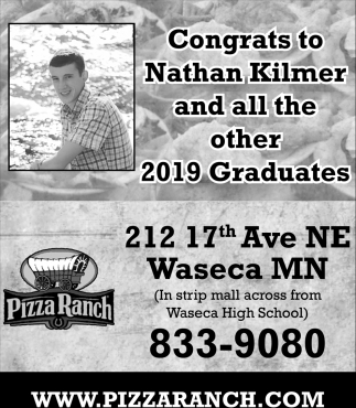 Congrats to Nathan Kilmer and all the other 2019 Graduates