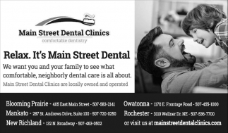 Relax. It's Main Street Dental