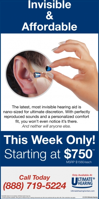 Invisible & Affordable, Ultimate Hearing, Mankato, MN