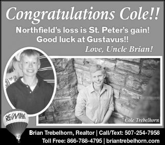 Congratulations Cole!!