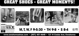 Great Shoes - Great Moments