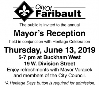 Mayor's Reception