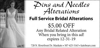 Full Service Bridal Alterations