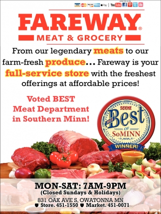 Voted Best Meat Department in Southern Minn!