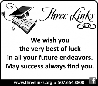 We wish you the very best of luck in all your future endeavors.
