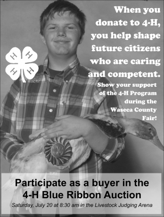 Participe as a buyer in the 4-H Blue Ribbon Auction