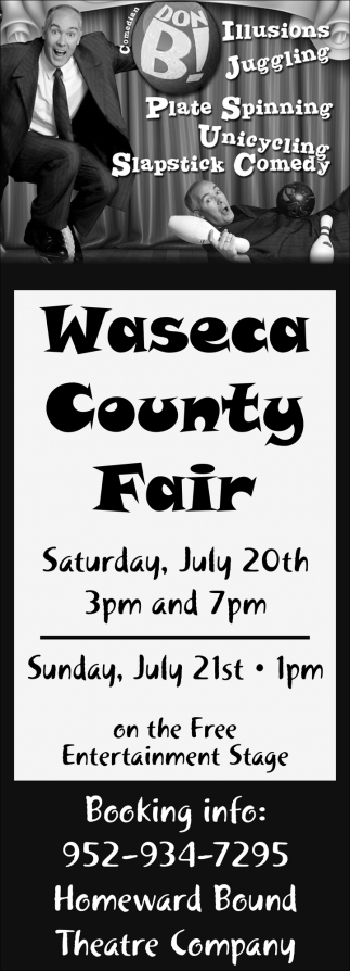 Comedian Don B at Waseca County Fair