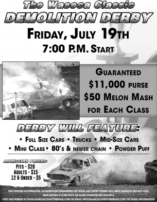 The Waseca Classic Demolition Derby