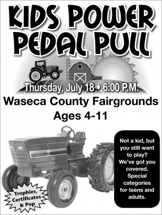 Kids Power Pedal Pull - July 18