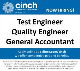 Test Engineer / Quality Engineer / General Accountant
