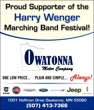 Proud Supporte of the Harry Wenger Marching Band Festival