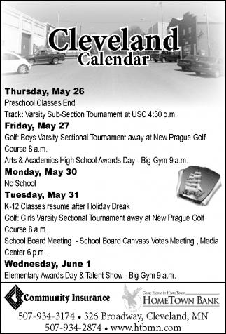 Cleveland Calendar