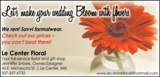 Let's make your wedding Bloom with flowers